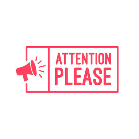 Attention please label. Stock Illustratie
