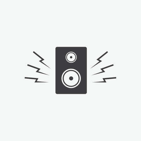 A speaker icon.