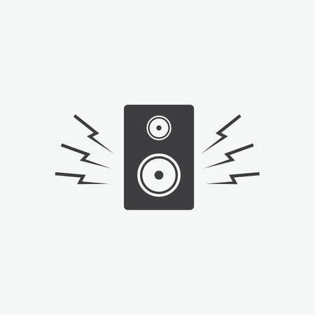 A speaker icon.