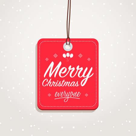 Merry Christmas Everyone Badge