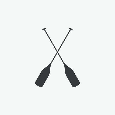 Paddle Boat Oars Vector Icon