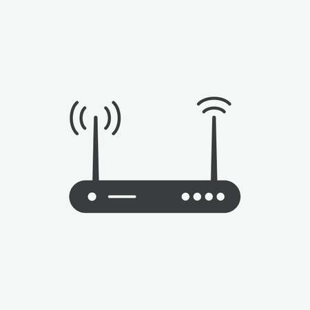 Router Vector Icon Ilustrace