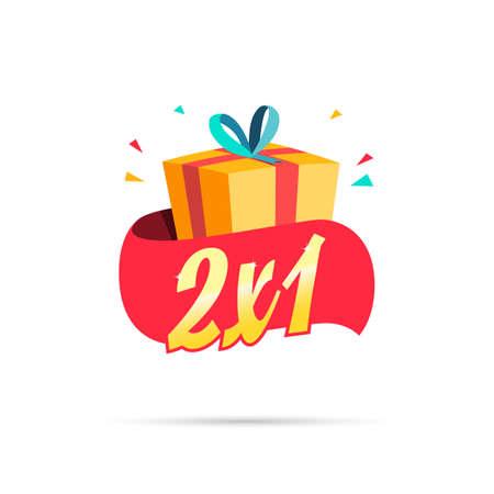 2X1 Aanbieding Shopping Geschenkdoos