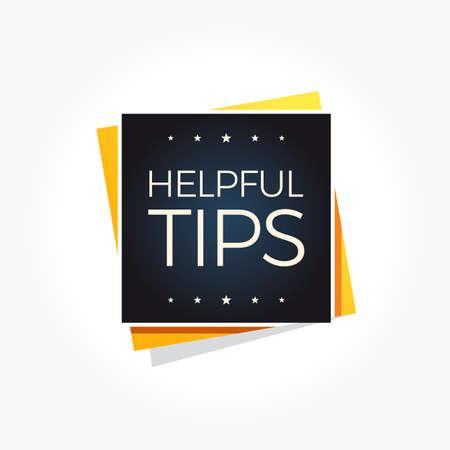 Helpful Tips Label