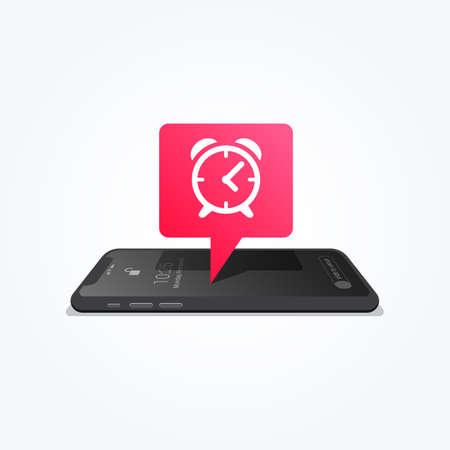 Phone Alarm Clock Tag Icon Vector illustration.