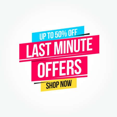 Last Minute Offers 50% Off Shop Now Advertisement Label