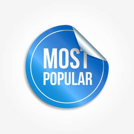 Most Popular Shopping Vector Sticker Illustration