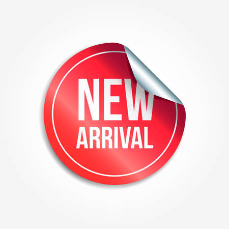 Neue Ankunft Shopping Vektor Aufkleber Vektorgrafik