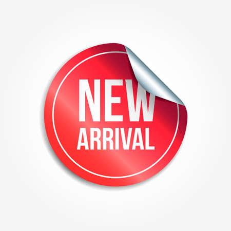 Nieuwe aankomst winkelen Vector Sticker Vector Illustratie