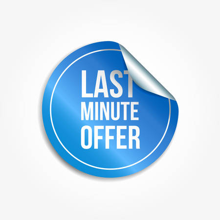 Last Minute Offer Shopping Vector Sticker
