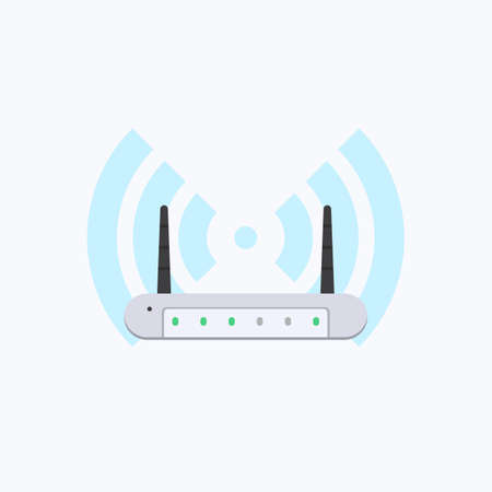 Wireless  Router Vector Icon Ilustrace