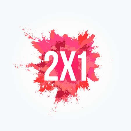 Comercial de tinción en polvo 2x1 Ilustración de vector