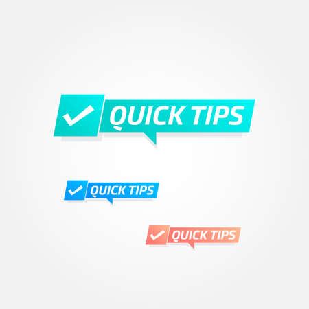 Quick Tips Tags Labels