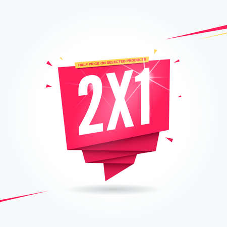 2X1 Half Price Commercial Tag 일러스트