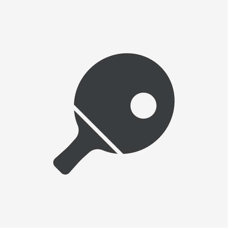 Ping Pong Paddle Vector Icon 向量圖像