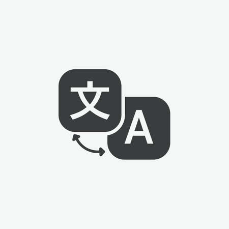 Translation Language Vector Icon  イラスト・ベクター素材