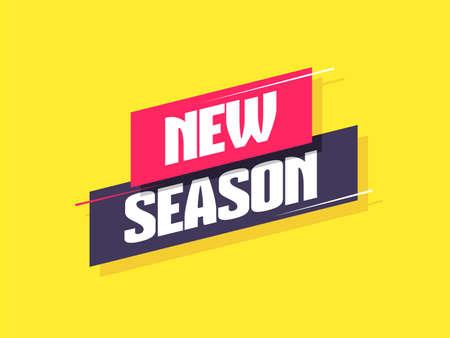 New Season Label vector illustration Vektorové ilustrace