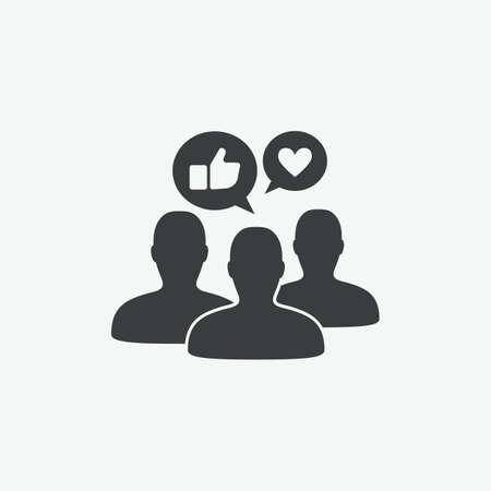 Icône de vecteur d'engagement de marque de médias sociaux