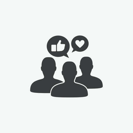 Social Media Brand Engagement Vector Icon