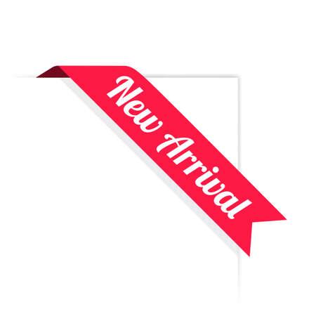 Neue Ankunftsband-Etikett