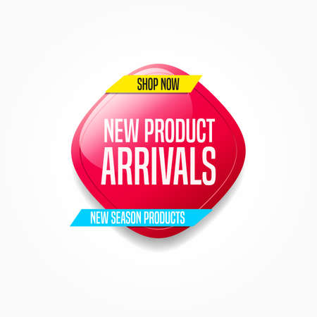 New Product Arrivals Shop Now Label