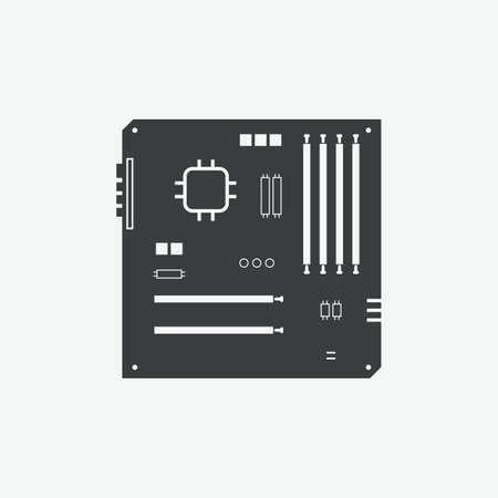 Computer Motherboard Vector Icon