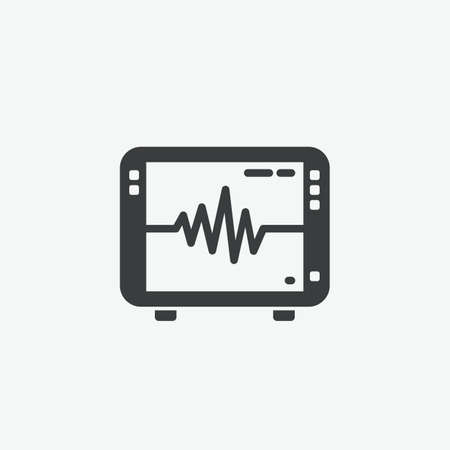 EKG Monitor Heart-rate Vector Icon