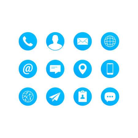 Contact Media Icon Set