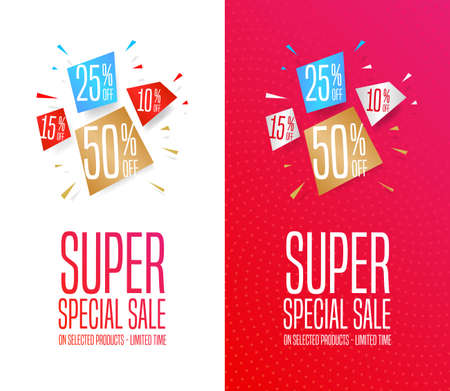 Super Special Sale Banners