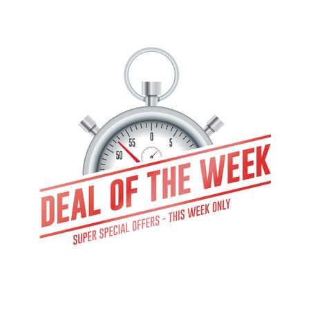 Oferta de la semana Chrono Time Label Ilustración de vector