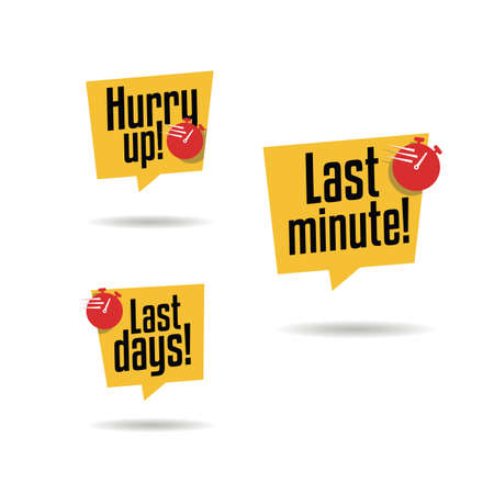 Hurry Up, Last Minute & Last Days Labels