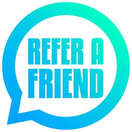Refer a Friend Bubble Tag Ilustrace