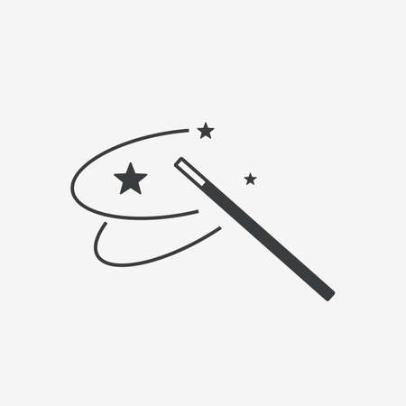 Magic Wand Vector Icon Imagens - 124810979