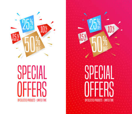 Special Offers Banners Stock Illustratie