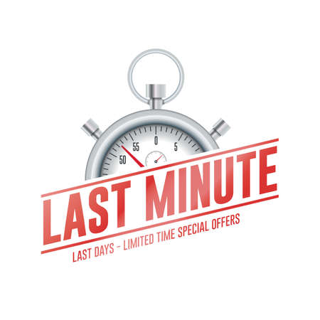 Last Minute Chrono Time Label 矢量图像