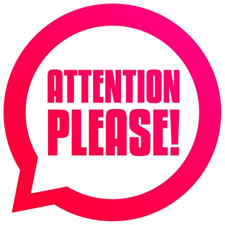 Attention Please Bubble Tag