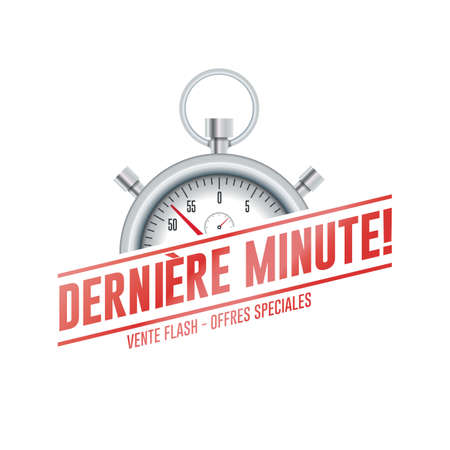 Last Minute French Chrono Time Label