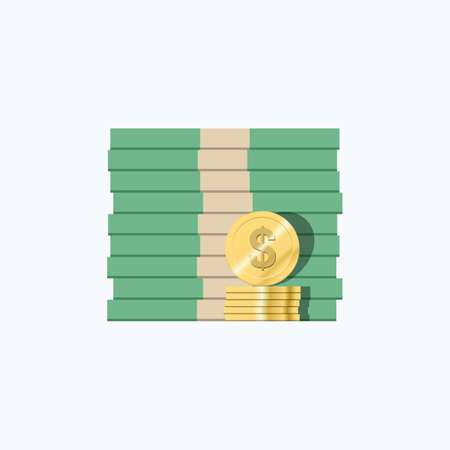 Money Bills & Coins Vector Icon