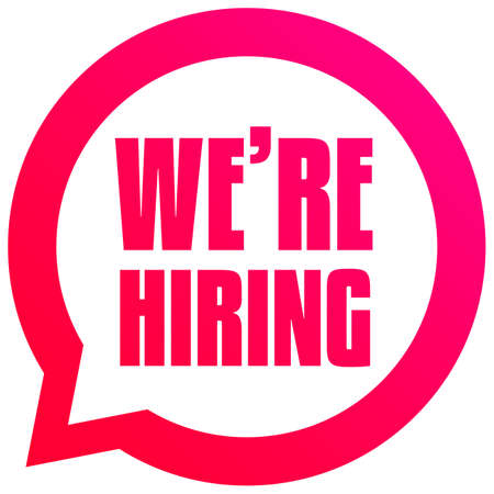 Were Hiring Bubble Tag