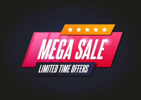 Mega Sale Shopping Announcement Label