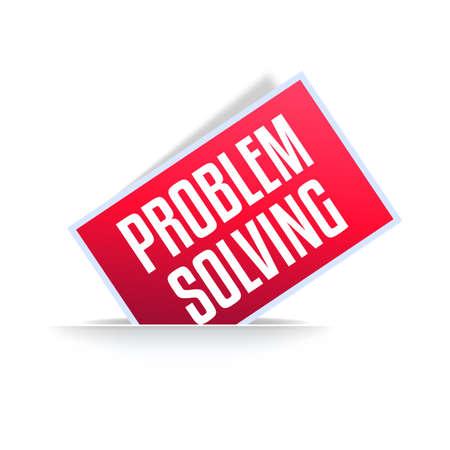 Problem Solving Professional Announcement Label Stock Illustratie