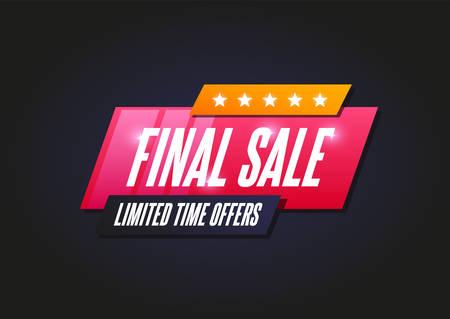 Final Sale Shopping Announcement Label