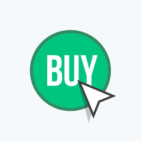 Buy Button Label Vector Icon Illustration