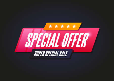 Special Offer Shopping Announcement Label Stock Illustratie