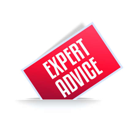 Expert Advice Professional Announcement Label