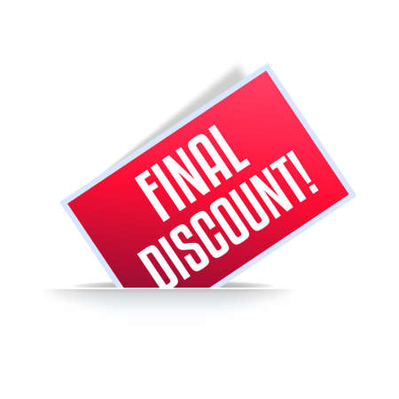 Final Discount Shopping Announcement Label