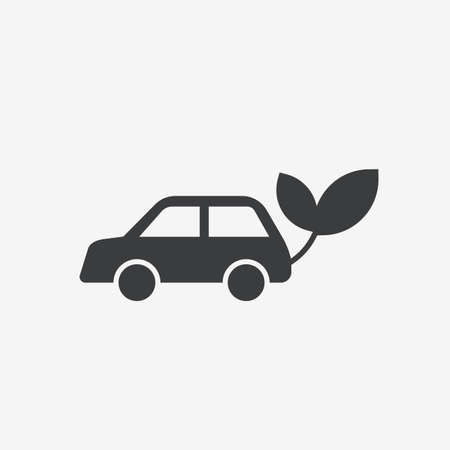 Car Electric Ecology Flat Vector Icon Illustration