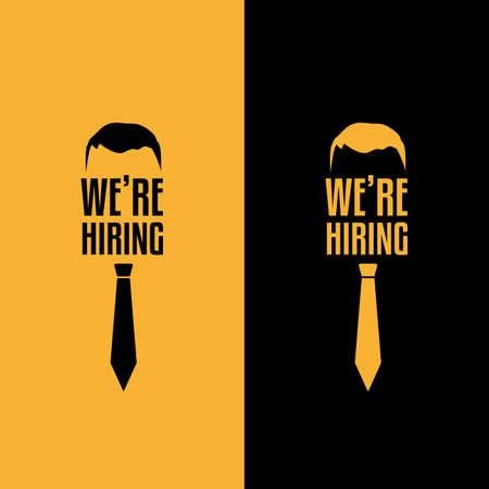We're Hiring Job Offer Labels Ilustrace