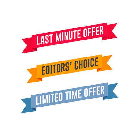 Last Minute Offer, Editors' Choice & Limited Time Offer Shopping Ribbon Set