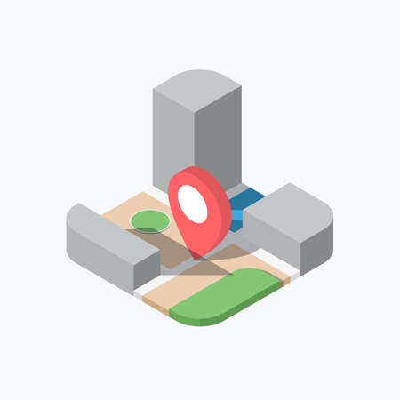 Location Pin Map Isometric Color Icon